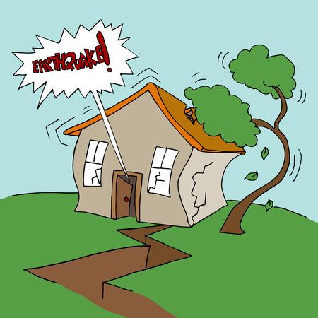 Ein Wohn Erdbebenereignisses. Standard-Bild - 31239610