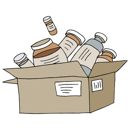 mail order: An image of a mail order medication box.