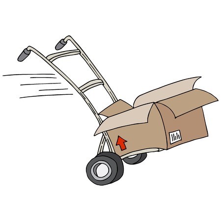 dolly bag: An image of a shipping dolly. Illustration