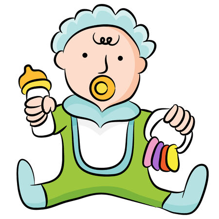 bonnet illustration: An image of a cute toddler.