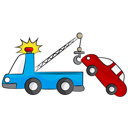 broken down: An image of a tow truck.