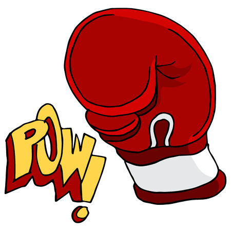 pow: An image of a boxing glove with pow text.