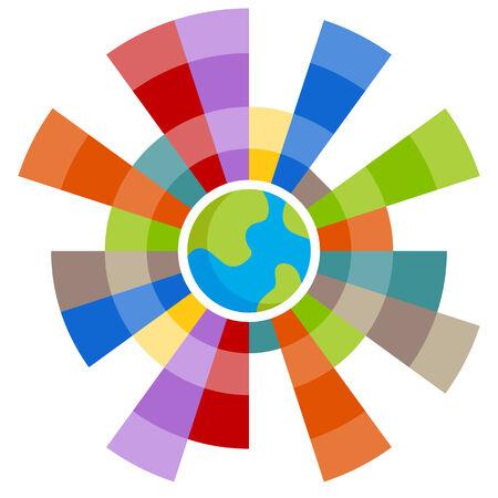 글로벌 차트의 이미지입니다. 스톡 콘텐츠 - 33381862