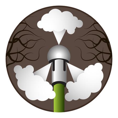 An image of a plumbing snake nozzle. Reklamní fotografie - 33381898