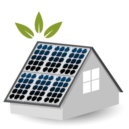 sun energy: An image of a solar panels icon.