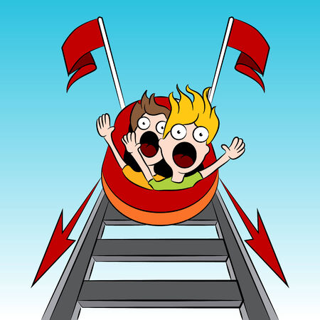rollercoaster: An image of rollercoaster riders.