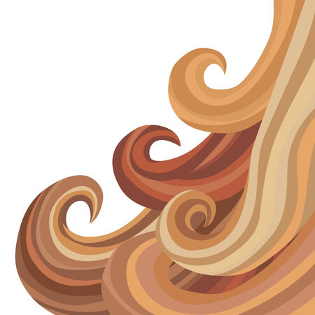 wavy hair: An image of flowing hair. Illustration