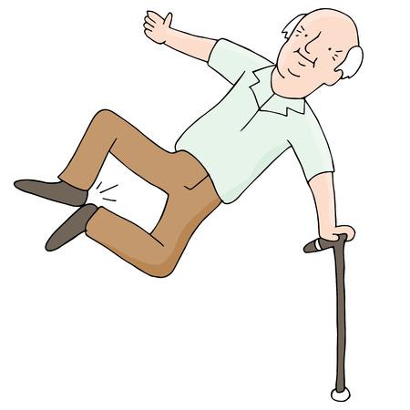 Ein Bild von einem älteren Mann schlug die Hacken. Standard-Bild - 35380390