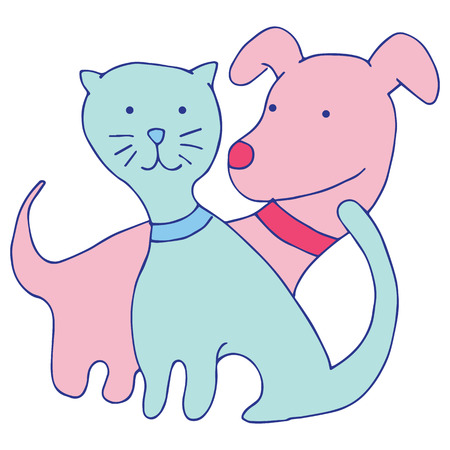 An image of a cat and dog.