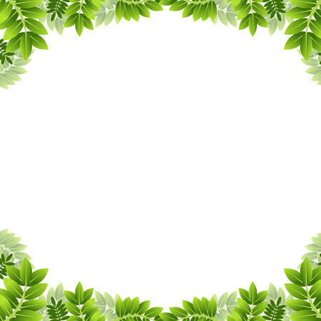 葉の境界線のイメージ。  イラスト・ベクター素材