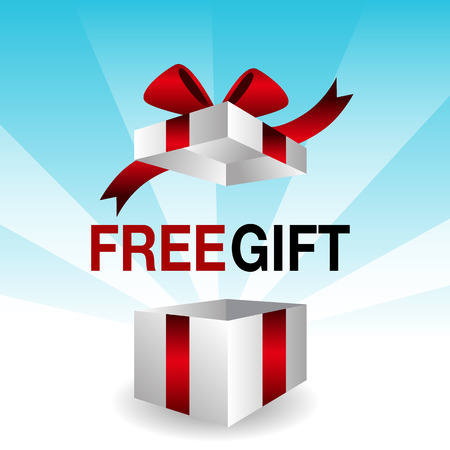 An image of a 3d free gift icon. Stok Fotoğraf - 35382268
