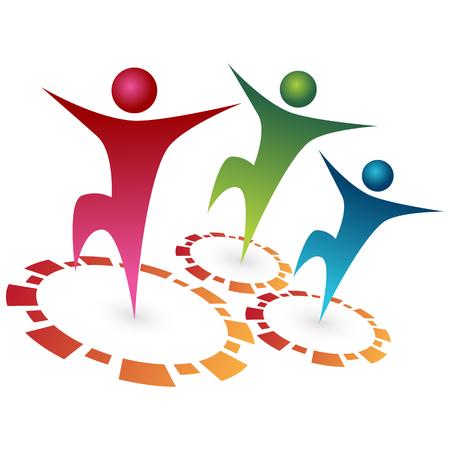 synergie: Ein Bild von Teamsynergie. Illustration