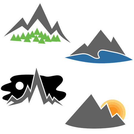 An image of a abstract mountain range set. 向量圖像
