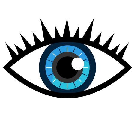 An image of a blue eye icon. Ilustração