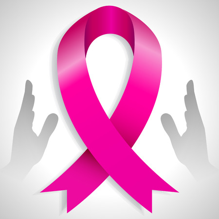 pink ribbons: An image of a 3d charity awareness ribbon.