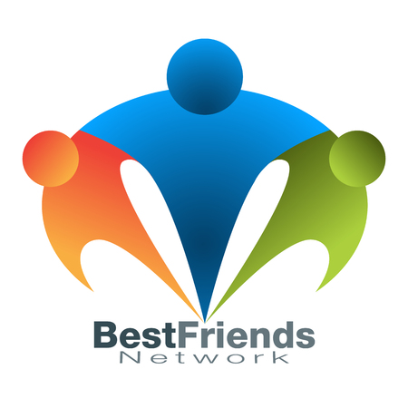 best friend: An image of a best friend network icon. Illustration