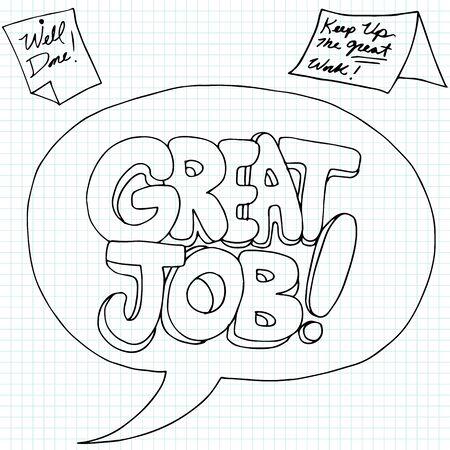 Ein Bild des positiven Arbeitsleistung Nachrichten.