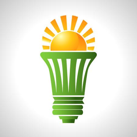 bombillo ahorrador: Una imagen de una bombilla que utiliza la energía solar.