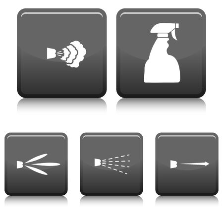 variety: An image of a spray bottle with a variety of types of spray settings.