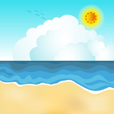 sea horizon: An image of a beach scene.
