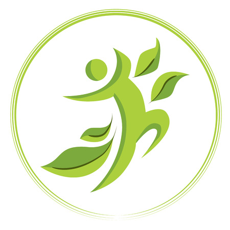 An image of a healthy person icon.