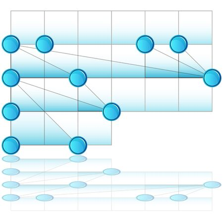 An image of an overlapping process chart.