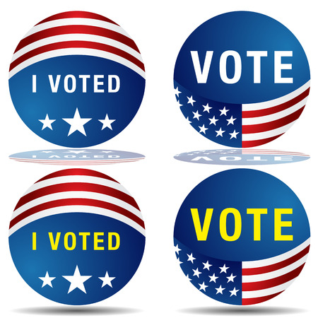 i voted: An image of a set of vote buttons. Illustration