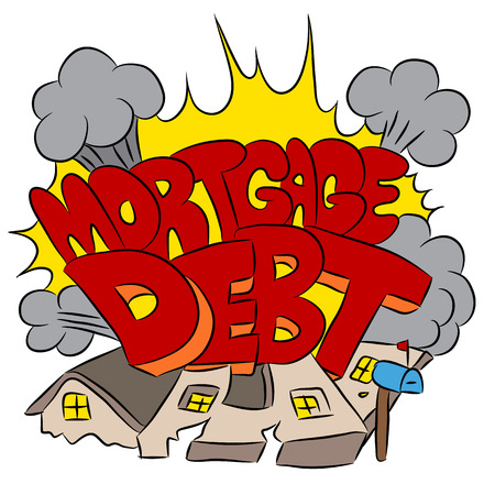 An image representing crushing mortgage debt. Stock Vector - 36346413