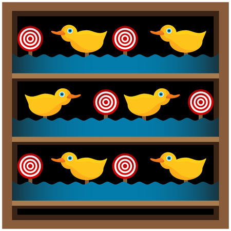 shooting gun: An image of a duck shooting gallery.