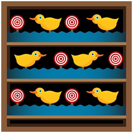 PATO: Una imagen de una galer�a de tiro de pato.