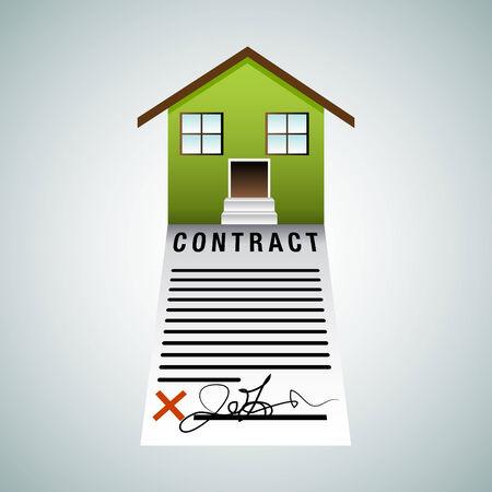 주택 계약의 이미지입니다. 스톡 콘텐츠 - 36346985