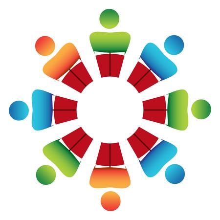 Une image d'une discussion de groupe de lecture. Banque d'images - 36413671