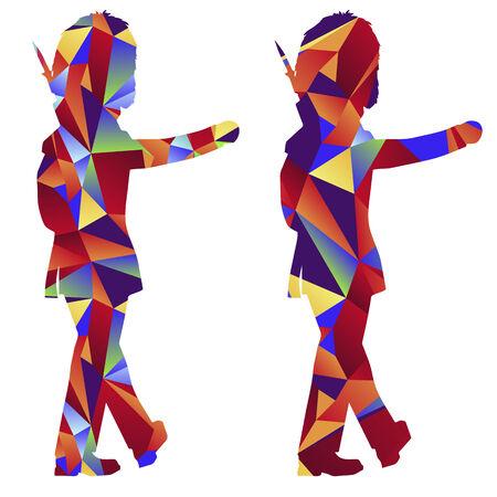 royal guard: An image of a royal guard - polygon style. Illustration