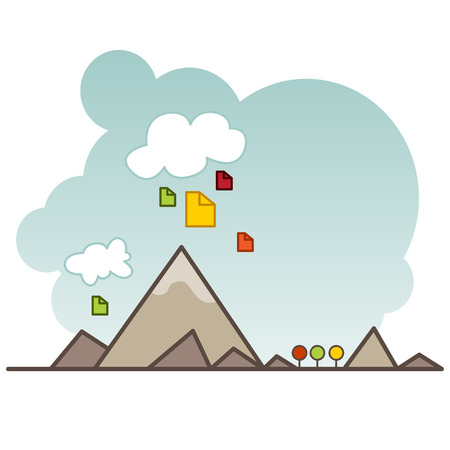 centralized: An image of a cloud data storage icon. Illustration