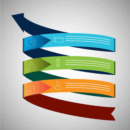 corporations: An image of a business growth arrow chart icon. Illustration