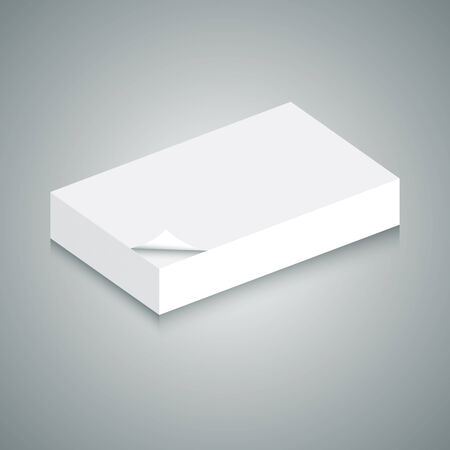 An image of of 3d stack of blank paper. Ilustracja