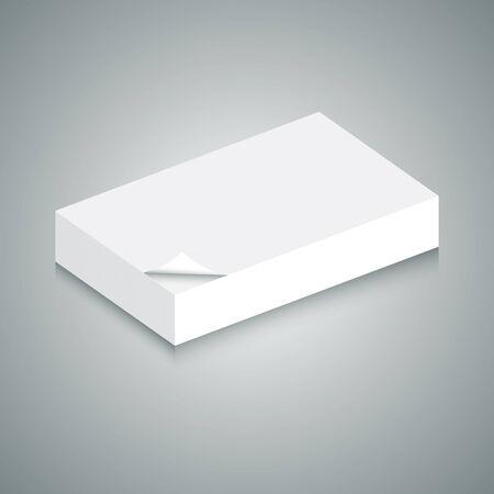 Una imagen de 3d de pila de papel en blanco. Foto de archivo - 36890311