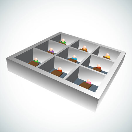 cubicle: An image of 3d office cubicles