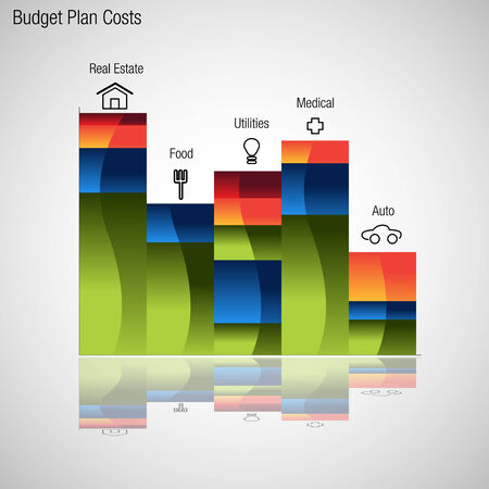 An image of a budget plan chart. Illustration