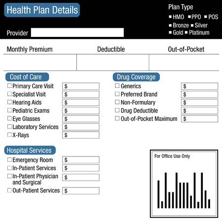 the list plan: An image of a health plan details worksheet.