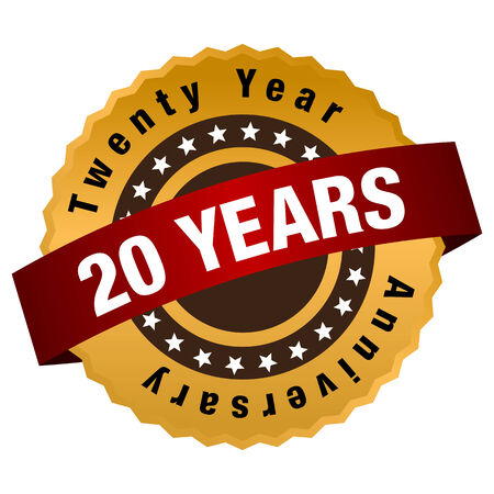 An image of a twenty year anniversary seal.