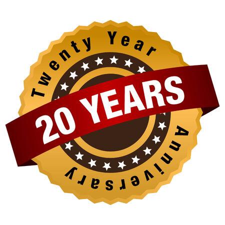 An image of a twenty year anniversary seal.