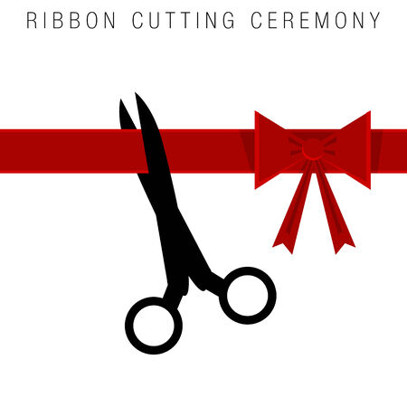 ribbon cutting: An image of an abstract ribbon cutting ceremony.