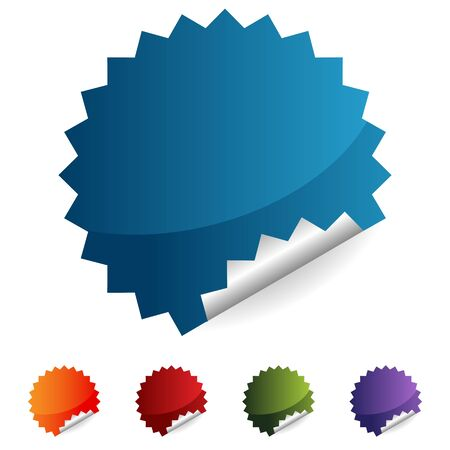 An image of a label button icon set. Ilustrace