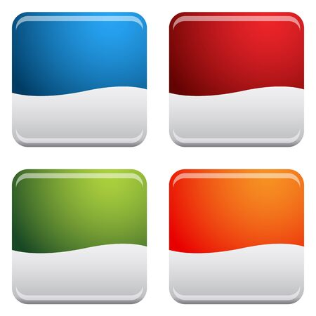 square shape: An image of a button icon set. Illustration