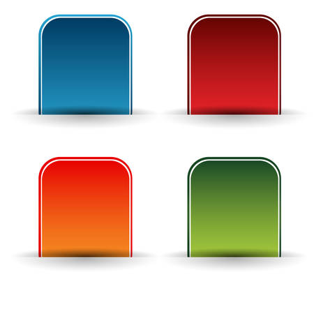 An image of a button icon set. Иллюстрация