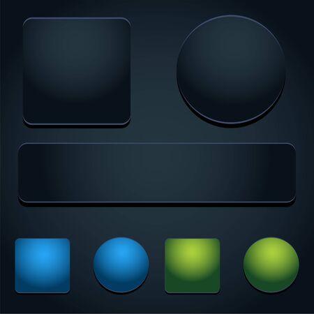 An image of a button icon set. Çizim