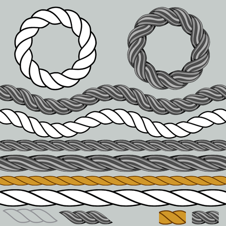 An image of a rope icon set. Illustration