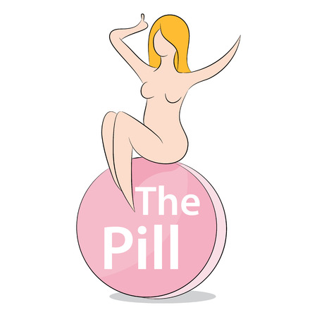 birth control: An image representing a female on the pill.