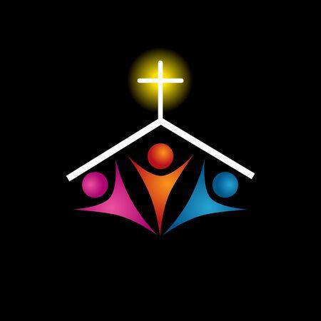 familia cristiana: Una imagen de un icono de la familia cristiana.